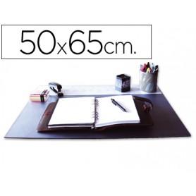 VADE SOBREMESA 50X65 C/SOLAPA TRANS. NEGRO Q-CONNECT