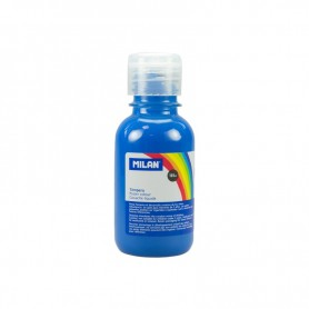 BOTELLA TEMPERA MILAN 125ML AZUL CYAN