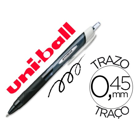 BOLIGRAFO UNI JETSTREAM RETRACTIL 1.0 NEGRO