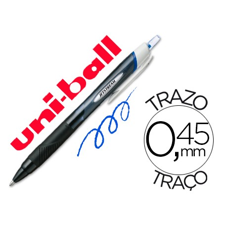 BOLIGRAFO UNI JETSTREAM RETRACTIL 1.0 AZUL