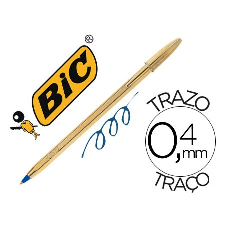 BOLIGRAFO BIC CRISTAL MEDIUM CELEBRATION DORADO