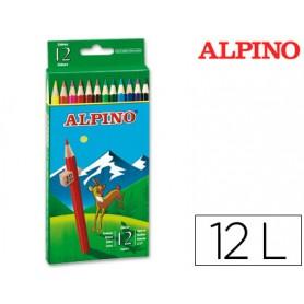 LAPICES DE COLORES ALPINO 12 UN.