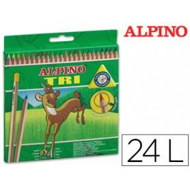 LAPICES DE COLORES ALPINO TRI 24UD.