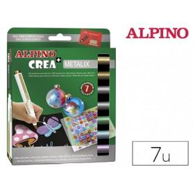 ROTULADOR ALPINO CREA METALIX  7 UN.