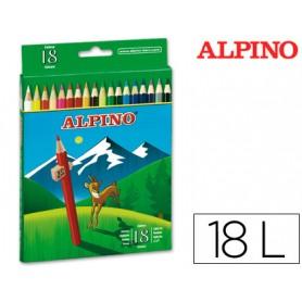 LAPICES DE COLORES ALPINO 656 C/18UN.