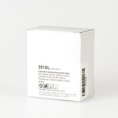 CARTUCHO DE TINTA 351XL COLOR COMPATIBLE CON HP