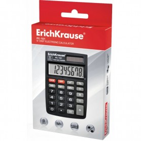 CALCULADORA BOLSILLO 8 DIGITOS  NEGRA ERICHKRAUSE