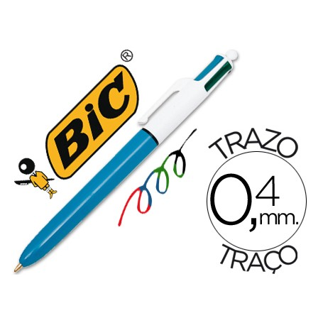 BOLIGRAFO RETRACTIL  BIC MEDIUM 4 COLORES