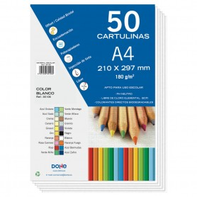 CARTULINA 50 H. A4 BLANCO DOHE