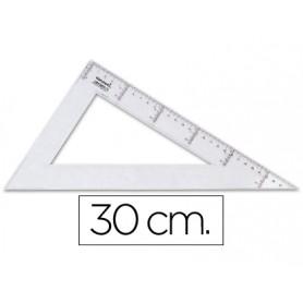 CARTABON  30CM PLASTICO CRISTAL LIDERPAPEL