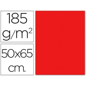 CARTULINA ROJO 50X65 185GRS GUARRO