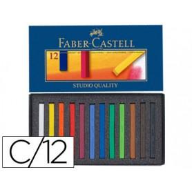 ESTUCHE CARTON TIZA  PASTEL FABER CASTELL 12UN.