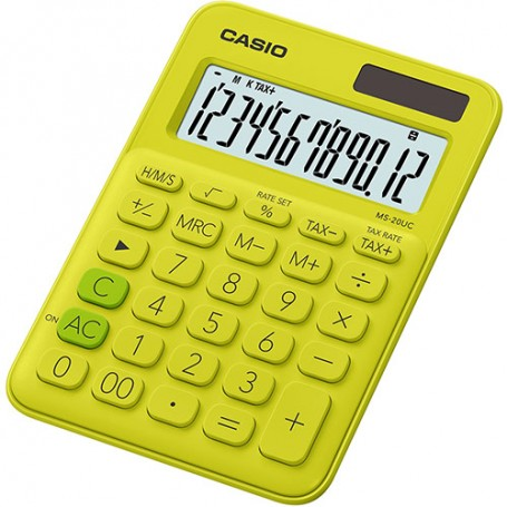 CALCULADORA CASIO MS-20UC-YG VERDE