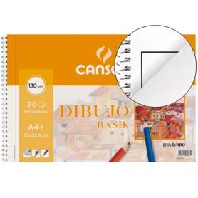 BLOC DE DIBUJO CANSON BASIK  A4 ESPIRAL SIN MARGEN