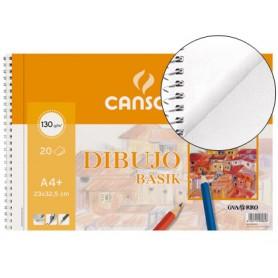 BLOC DE DIBUJO BASIK CANSON A4+ TALADRADO