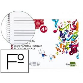 BLOC MUSICA PENTAGRAMA DE 4 MM  A5 20H. LIDERPAPEL