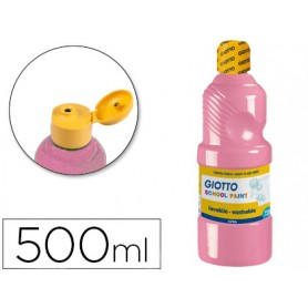 TEMPERA LIQUIDA LAVABLE ROSA GIOTTO 500ML.
