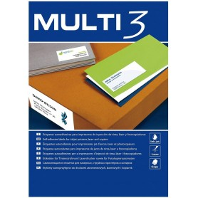 ETIQUETAS  99,1X34 MM BLANCAS MILTI3 C/100H.