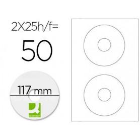 ETIQUETA ADHESIVA CD/DVD 25H. Q-CONNECT