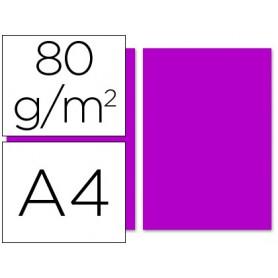 PAPEL A4 FUCSIA 100U. 80GRS. LIDERPAPEL