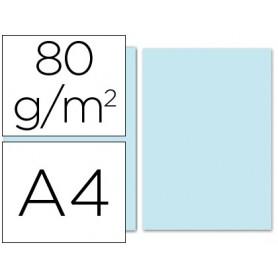 PAPEL A4 AZUL CELESTE 100U. 80GRS. LIDERPAPEL
