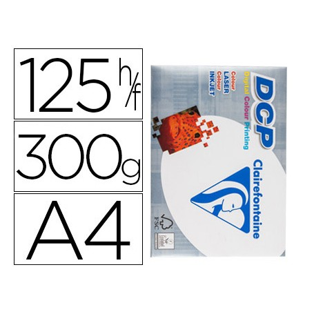 PAPEL CLAIREFONTAINE A4 300GR, 125HOJAS