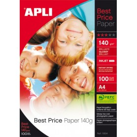 PAPEL FOTOGRAFICO BEST PRICE A4 140 GRS. 100H. GLOSSY