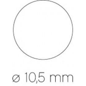 ROLLO GOMETS CIRCULARES VERDE DE 10,5 MM APLI