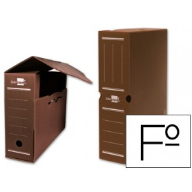 ARCHIVO DEFINITIVO PLASTICO LIDERPAPEL MARRON FOLIO