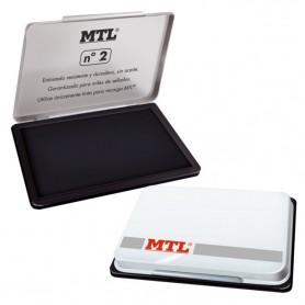 TAMPON METALICO 109X70 MM Nº2 NEGRO MTL
